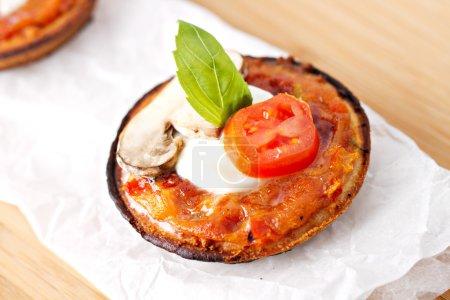 italian pizza margherita.