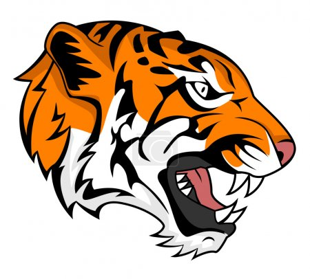 Illustration for Tiger head illustration - Royalty Free Image