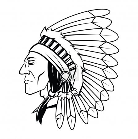 Apache Head Vector Illustration