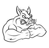 Strong Wild boar