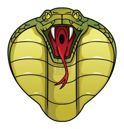Illustration pour Conception d'illustration vectorielle Cobra - image libre de droit
