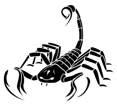 Illustration for Scorpion MAscot Tattoo - Royalty Free Image