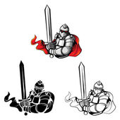 Tattoo Symbol Of Knights Warriors set collectionisolated on white backgroundVector illustration