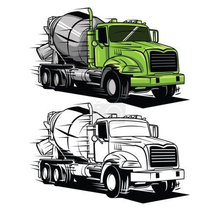 Coloring book big truck cartoon character