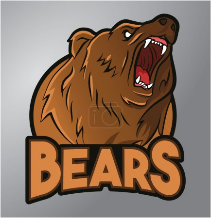 Illustration for Bears mascot - Royalty Free Image