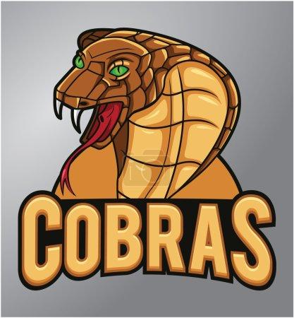 Illustration pour Mascotte de Cobras - image libre de droit
