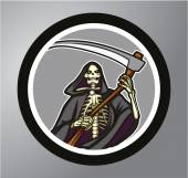 Grim Reaper Circle sticker
