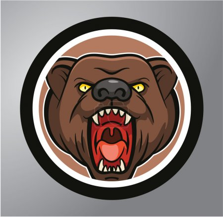 Bear Circle sticker