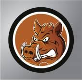 Warthog Circle sticker