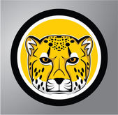 Cheetah Circle sticker