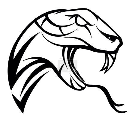 Illustration pour Illustration du symbole du serpent - image libre de droit