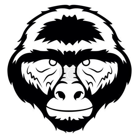 Gorilla symbol illustration