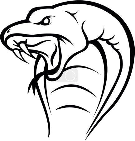Illustration pour Cobra tête de serpent - image libre de droit