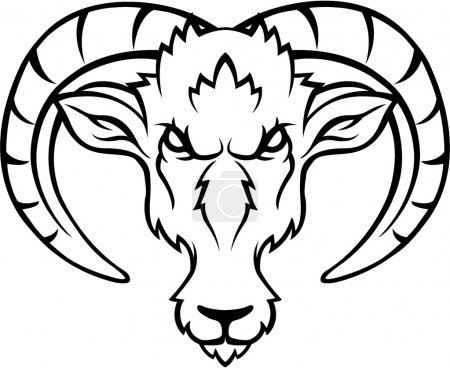 Illustration for Ibex head - Royalty Free Image