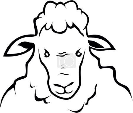 Sheep symbol illustration