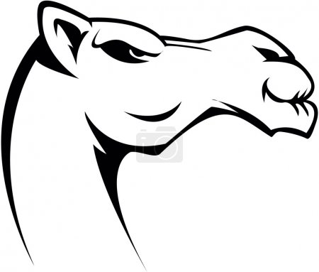 Illustration pour Illustration de symbole de chameau - image libre de droit