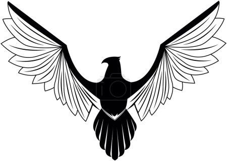 Illustration for Eagle wing symbol - Royalty Free Image