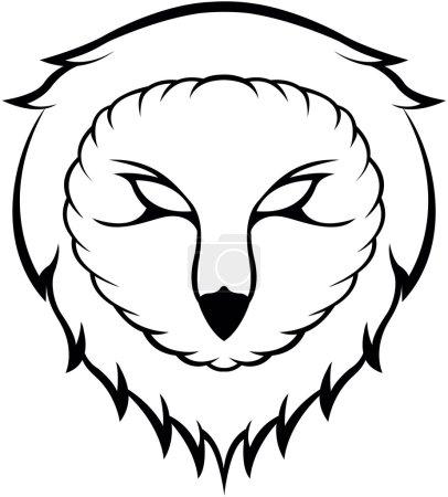 Owl head symbol