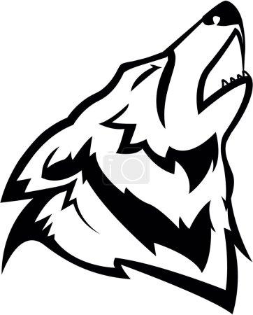 Illustration pour Illustration Wolf - image libre de droit