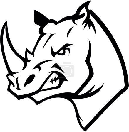 Rhino head illustration design