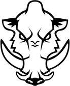 Wild boar illustration