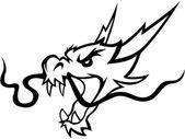 Dragon Illustration design vector