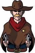 Cowboy Illustration Design vector
