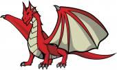 Red Dragon illustration design