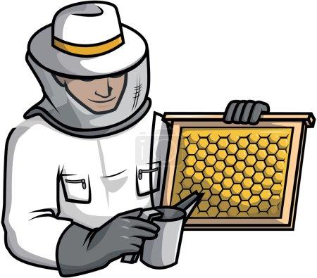 Bee keeper  illustration design