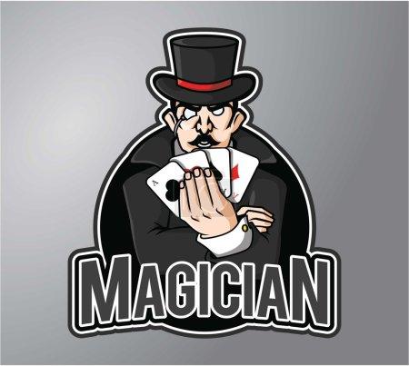 Illustration pour Illustration vectorielle de design magicien - image libre de droit