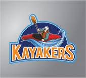 Kayakers Illustration design badge