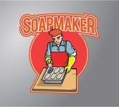 making soap illustration design
