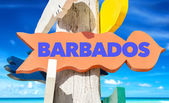 Barbados welcome sign