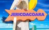 jericoacoara wooden signpost