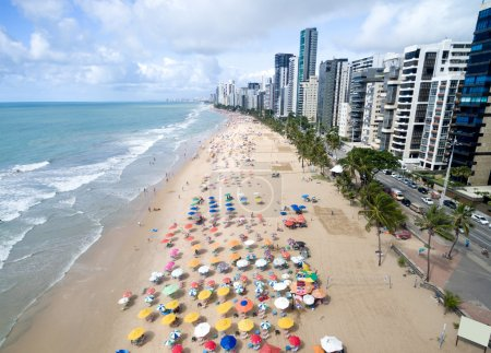 Photo for Aerial View of Boa Viagem Beach, Recife, Brazil - Royalty Free Image