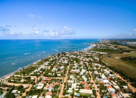 Photo pour Vue Aérienne De Praia do Forte, Bahia, Brésil - image libre de droit