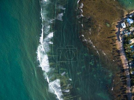 Photo pour Vue du dessus de Praia do Forte, Bahia, Brésil - image libre de droit