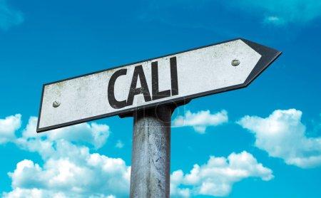 Photo pour Cali panneau de signalisation dans une image concept - image libre de droit
