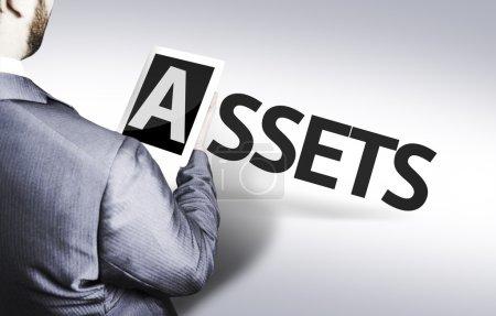 Photo pour Businessman with the text Assets in a concept image - image libre de droit