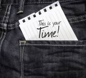 This is Your Time written on paper