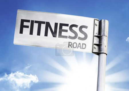 Fitness written on the road sign