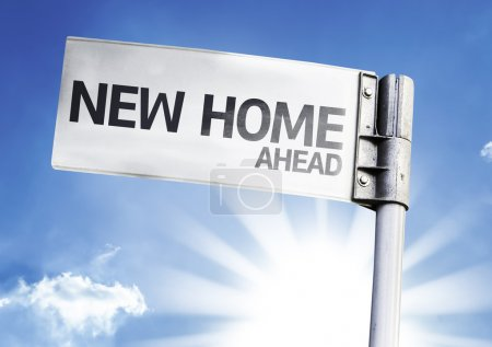Photo for New Home written on the road sign - Royalty Free Image