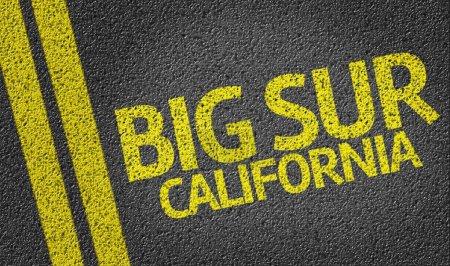 Big Sur California written on road