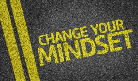 Photo for Change your Mindset written on the road background - Royalty Free Image