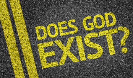Does God Exist? written on road