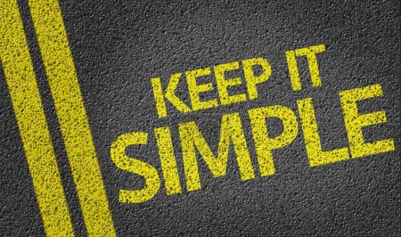 Photo for Keep It Simple written on the road background - Royalty Free Image