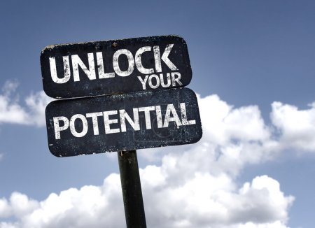 Unlock your potential   sign