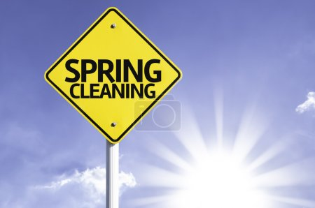 Spring cleaning   road sign