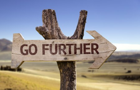 Go Further  wooden sign