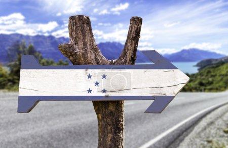 Honduras wooden sign